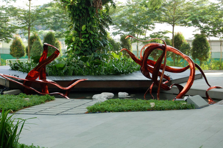 Singapore Biopolis Sculpture Bioinformatics